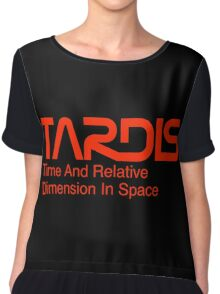 NASA Worm Logo TARDIS Chiffon Top