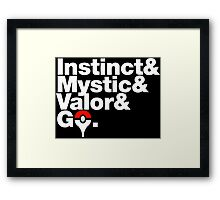 Govetica - Instinct First Edition Framed Print
