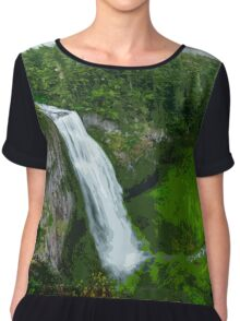 Waterfall in the Woods Chiffon Top
