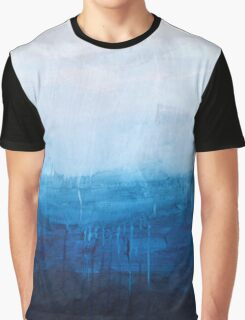 White Drip Graphic T-Shirt