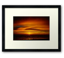 Cape Lookout at Sunset #3 Framed Print