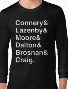 JAMES BOND Helvetica Names List Long Sleeve T-Shirt