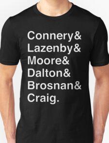 JAMES BOND Helvetica Names List Unisex T-Shirt