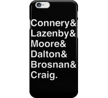 JAMES BOND Helvetica Names List iPhone Case/Skin