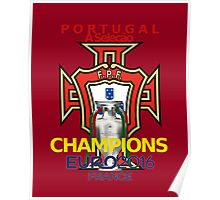 EURO 2016 CHAMPIONS - Portugal Football Team Poster