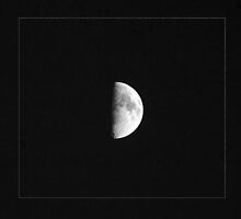 Half Moon in black and white by pjphoto181