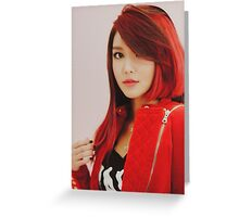 SOOYOUNG /GIRLS GENERATION Greeting Card
