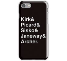 Star Trek Captains Helvetica Name List iPhone Case/Skin