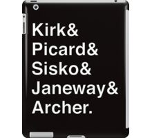 Star Trek Captains Helvetica Name List iPad Case/Skin