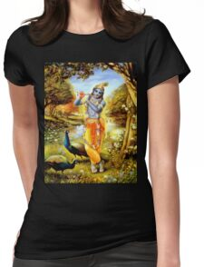 Yoga Pants Bali Krishna Womens Fitted T-Shirt