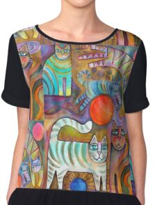 Klimt Cats Chiffon Top