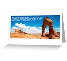 Kerouac's On the Road in Utah Greeting Card