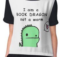 I am a Book Dragon not a book worm Chiffon Top