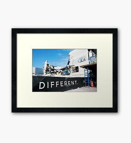 DEMOLITION - Different Framed Print