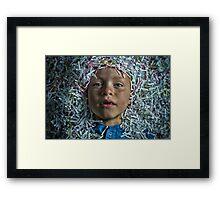 A Boy and His Shreds Framed Print