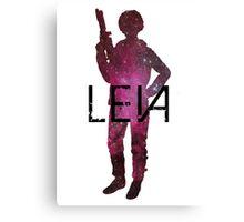 Princess Leia Galaxy Canvas Print