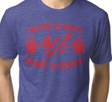 The Bar Is Heavy Regret Is Heavier - Red Tri-blend T-Shirt