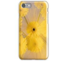 Yellow flower with zoom blur iPhone Case/Skin