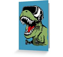 VR T-rex Greeting Card