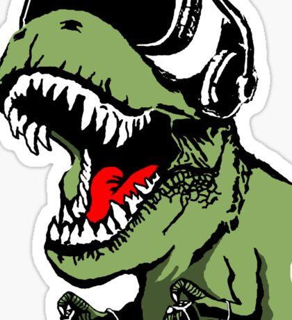 VR T-rex Sticker
