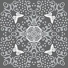 Shades Of Gray Butterfly Medallion by 2HivelysArt