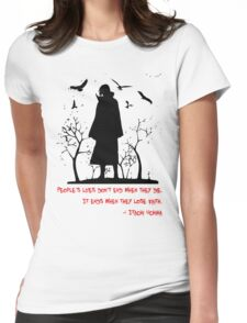 Itachi's Version of DEATH! Womens Fitted T-Shirt