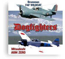 Dogfighters: F4F vs A6M Canvas Print