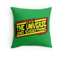 Hitchhiker's Guide Strikes Back Throw Pillow