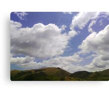 The cloud kissed the mountain Canvas Print