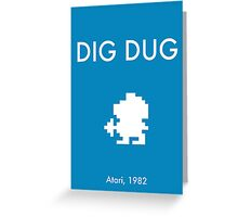 Dig Dug Greeting Card