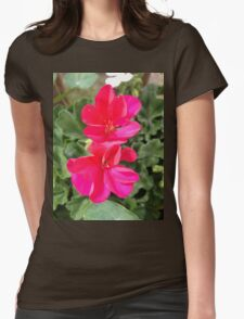 Beautiful red flowers Womens Fitted T-Shirt
