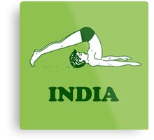 India - Halasana Yoga T-shirt Metal Print