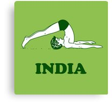 India - Halasana Yoga T-shirt Canvas Print