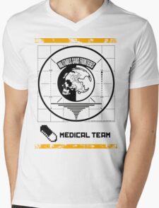 Metal Gear Solid MSF Medical Team Shirt Mens V-Neck T-Shirt