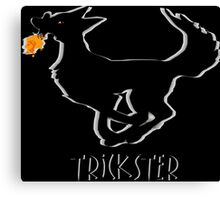 Trickster Coyote Steals Fire Canvas Print