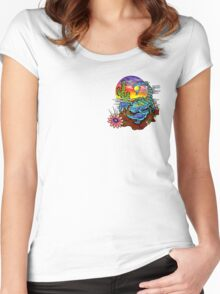 Psychedelic Scorpion Women's Fitted Scoop T-Shirt