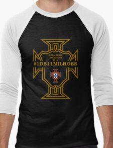 #1DE11MILHOES PORTUGAL EURO FINAL 2016 FRANCE Men's Baseball ¾ T-Shirt