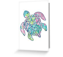 Lilly Pullitzer sea turtle Greeting Card