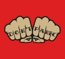 Don't Panic Fist Tattoos Kids Tee