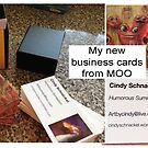 My new business cards by Cindy Schnackel