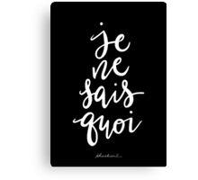 Je Ne Sais Quoi —Version 2 (Black Background) Canvas Print