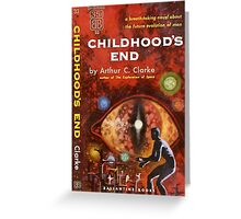 Pulp Fiction Cover of Arthur C. Clarke's Childhood's End Greeting Card