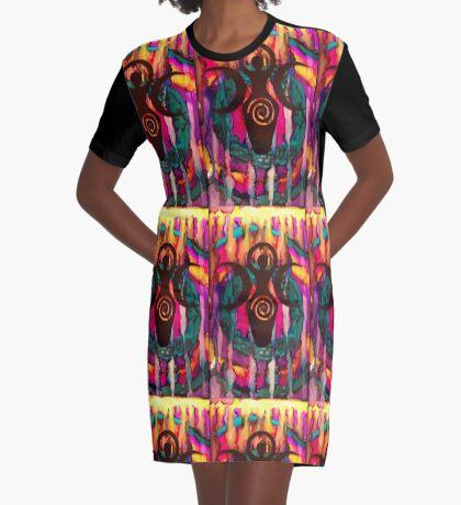 Triple Goddess Graphic T-Shirt Dress