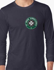 TARDIS St. John Ambulance Starbucks Logo Long Sleeve T-Shirt