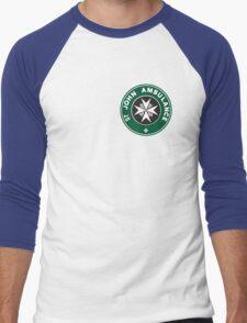 TARDIS St. John Ambulance Starbucks Logo Men's Baseball ¾ T-Shirt