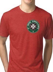 TARDIS St. John Ambulance Starbucks Logo Tri-blend T-Shirt