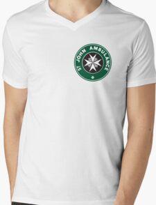 TARDIS St. John Ambulance Starbucks Logo Mens V-Neck T-Shirt