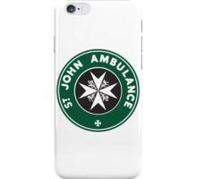 TARDIS St. John Ambulance Starbucks Logo iPhone Case/Skin