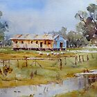 Old Shed on Banks of Lake Cowal, NSW by Sampa Bhakta