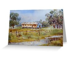 Old Shed on Banks of Lake Cowal, NSW Greeting Card